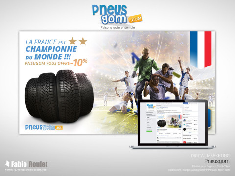 Mockup du Visuel marketing créé à l'occasion de la coupe du monde de foot